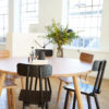Round Solid Oak Dining Table