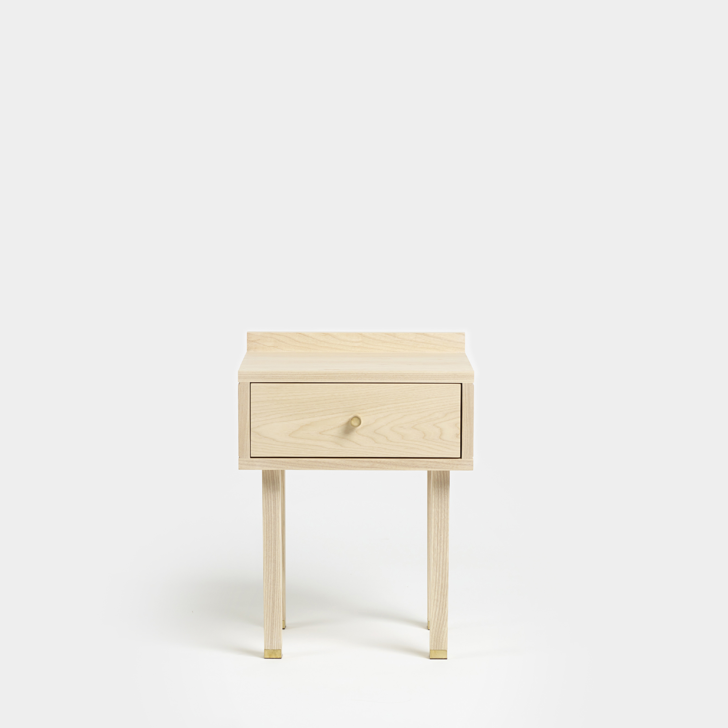 Picture of: Solid Ash Wood Bedside Table With Drawer By Another Country