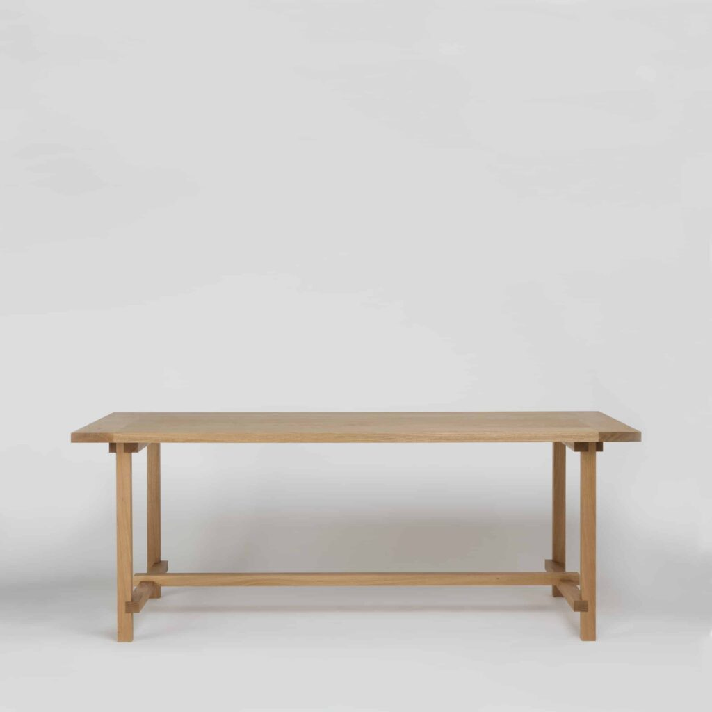 modern solid oak dining table four