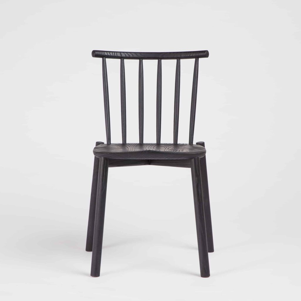 Black Hardy Stacking Chair by Another Country