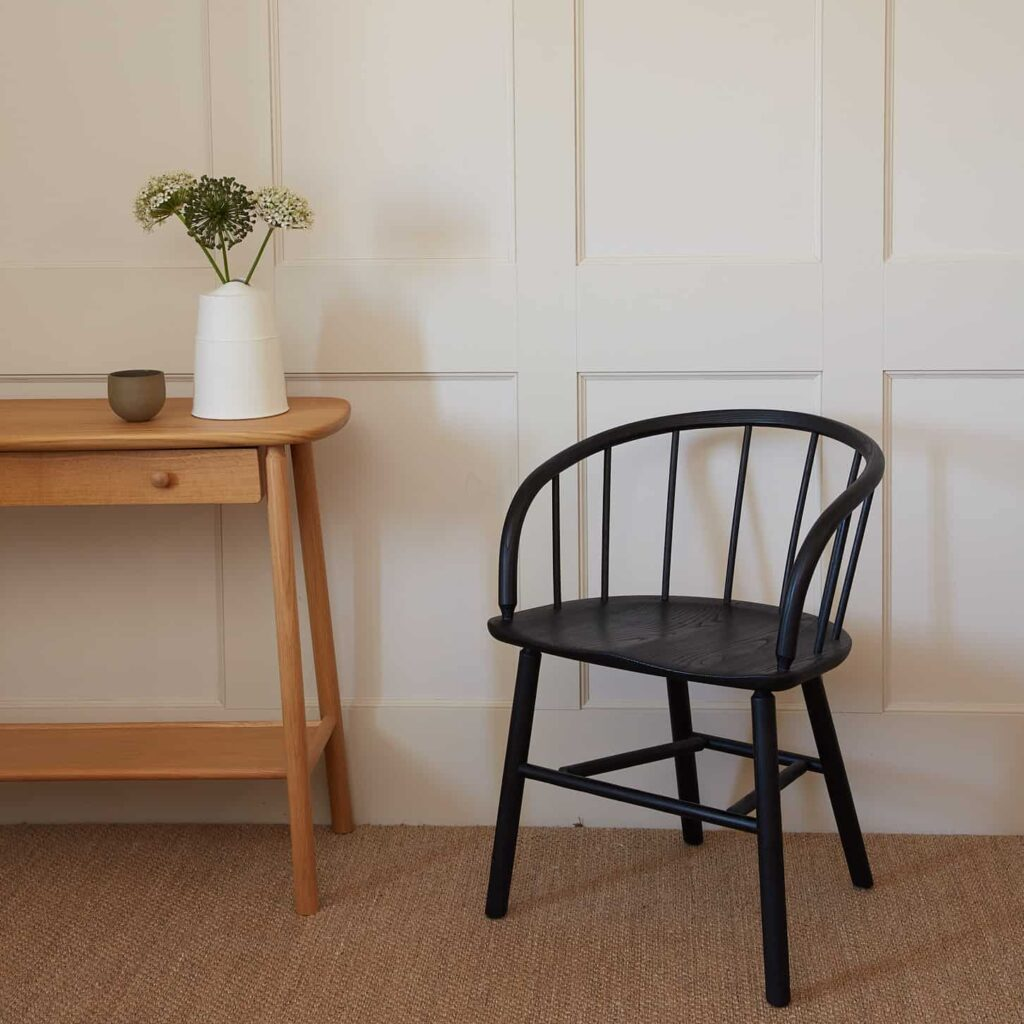 Black Hardy Chair and Oak Console
