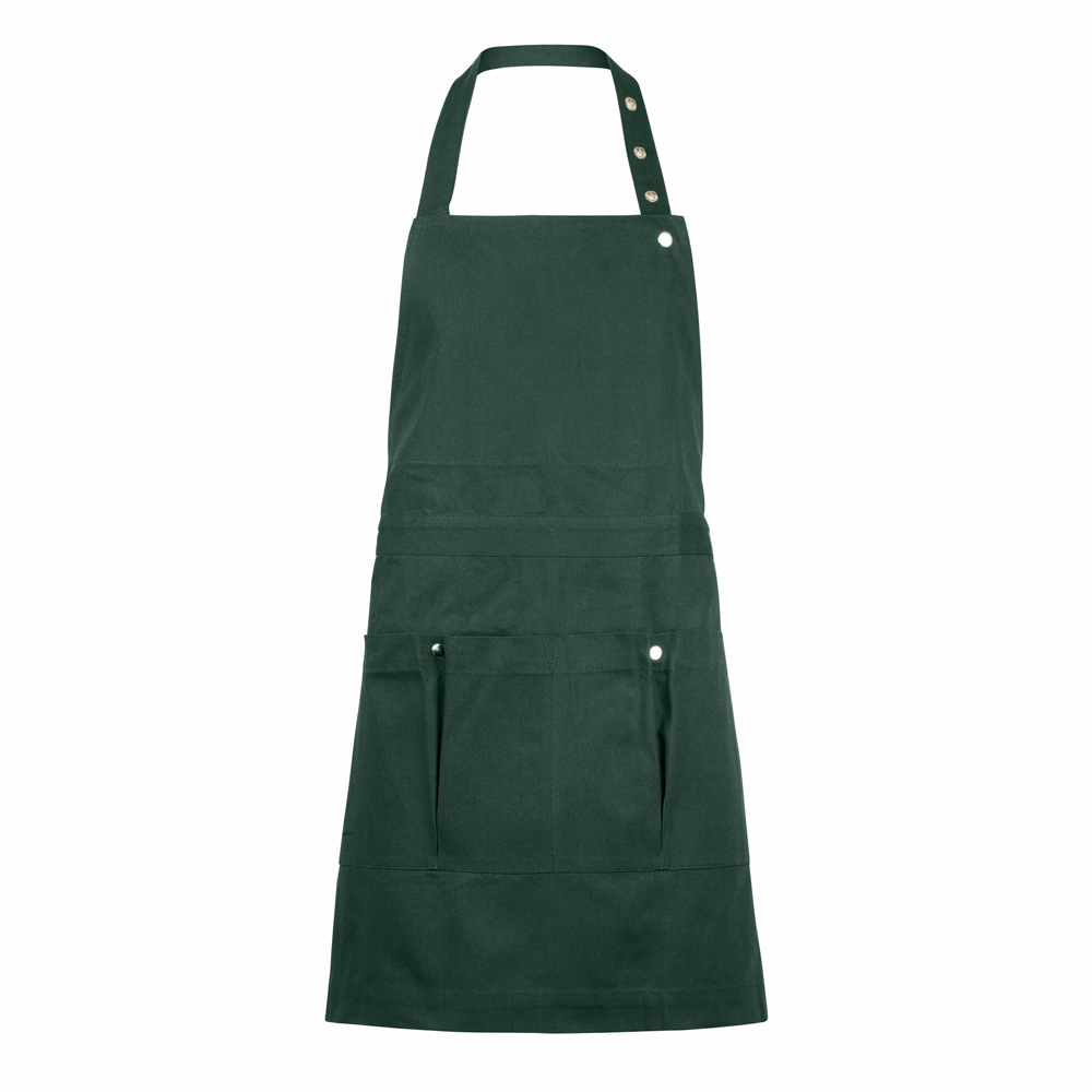 This creative and garden apron won't let you down! An organic green cotton canvas, with 5 practical pockets, that covers all needs.