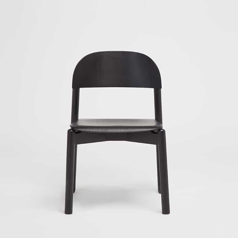 Another Country Arc chair in black designed by Alain Gilles
