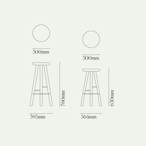 Bar Stool One Diagram