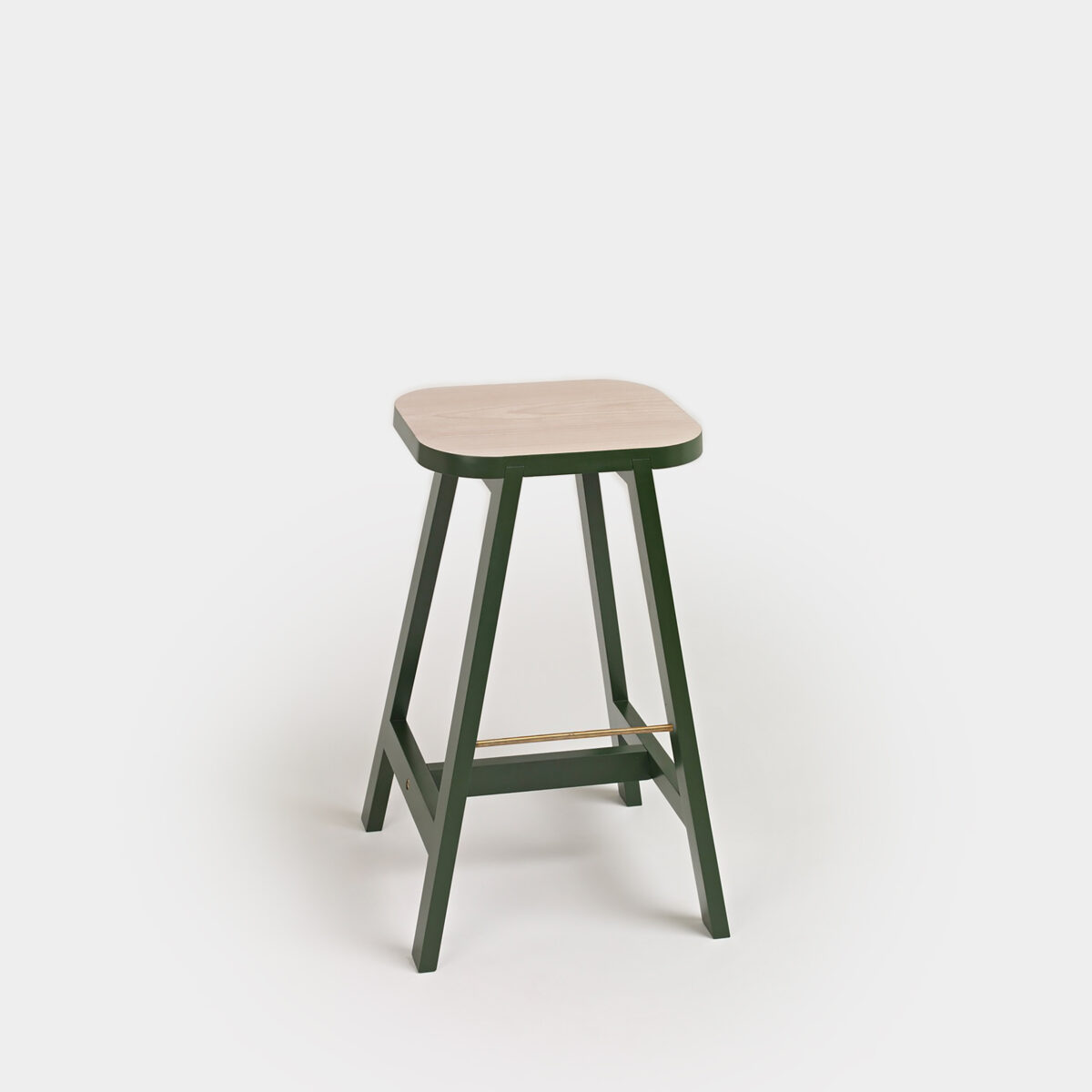 Bar Stool Three Beech:Green