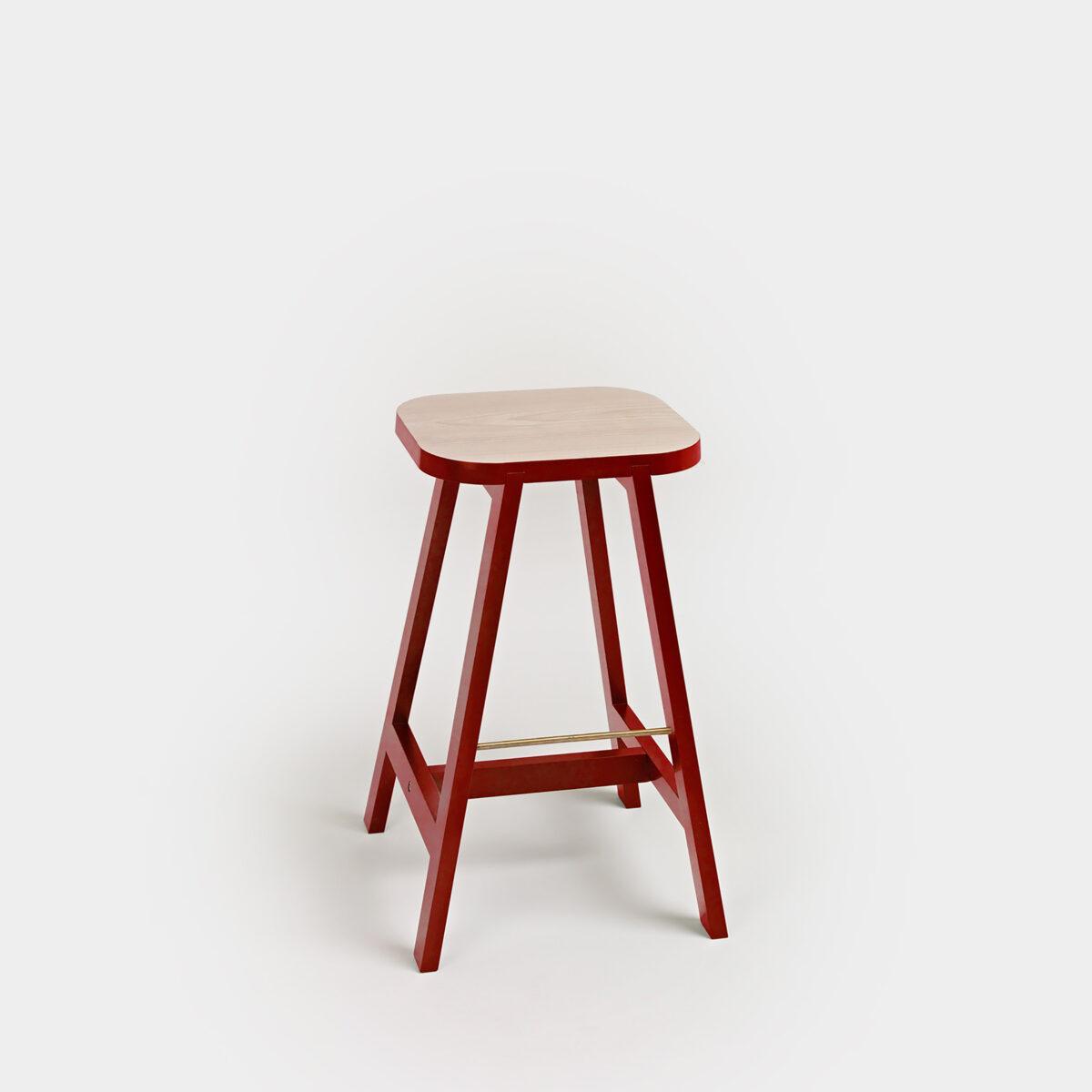 Bar Stool Three Beech:Red