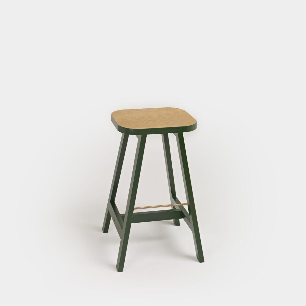 Bar Stool Three Oak:Green