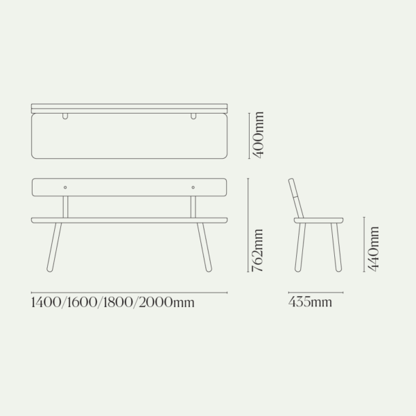 Bench Back One Diagram