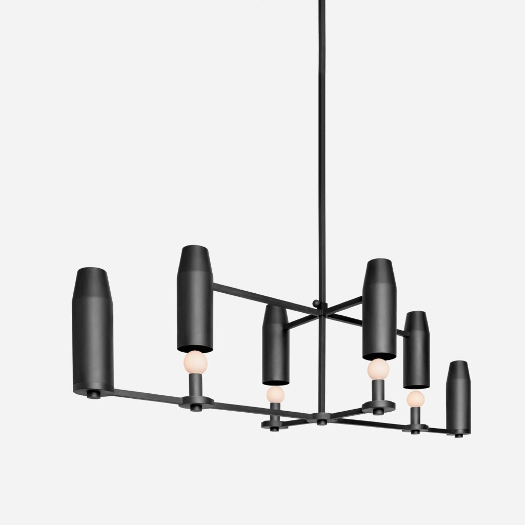 Chamber Chandelier Up Bronze by Workstead