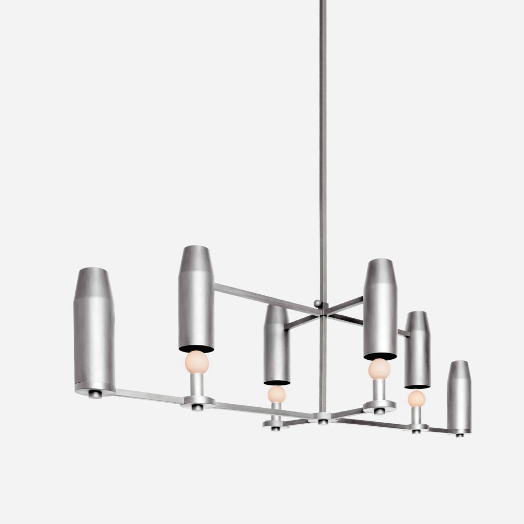 Chamber Chandelier Up Nickel by Workstead