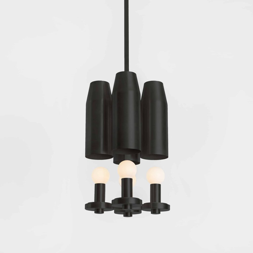 Chamber Pendant Four Bronze On | Workstead | Lighting