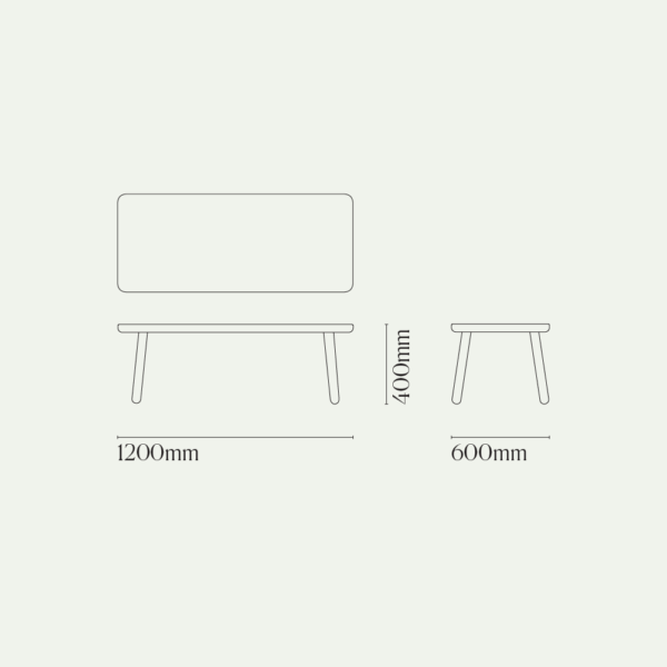 Coffee Table One, Rectangular Diagram