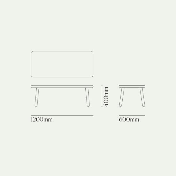 Coffee Table One, Rectangular Diagram