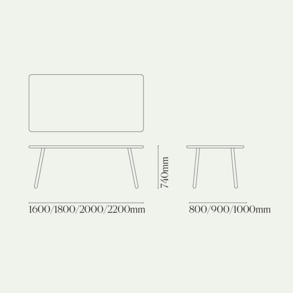 Dining Table One Diagram