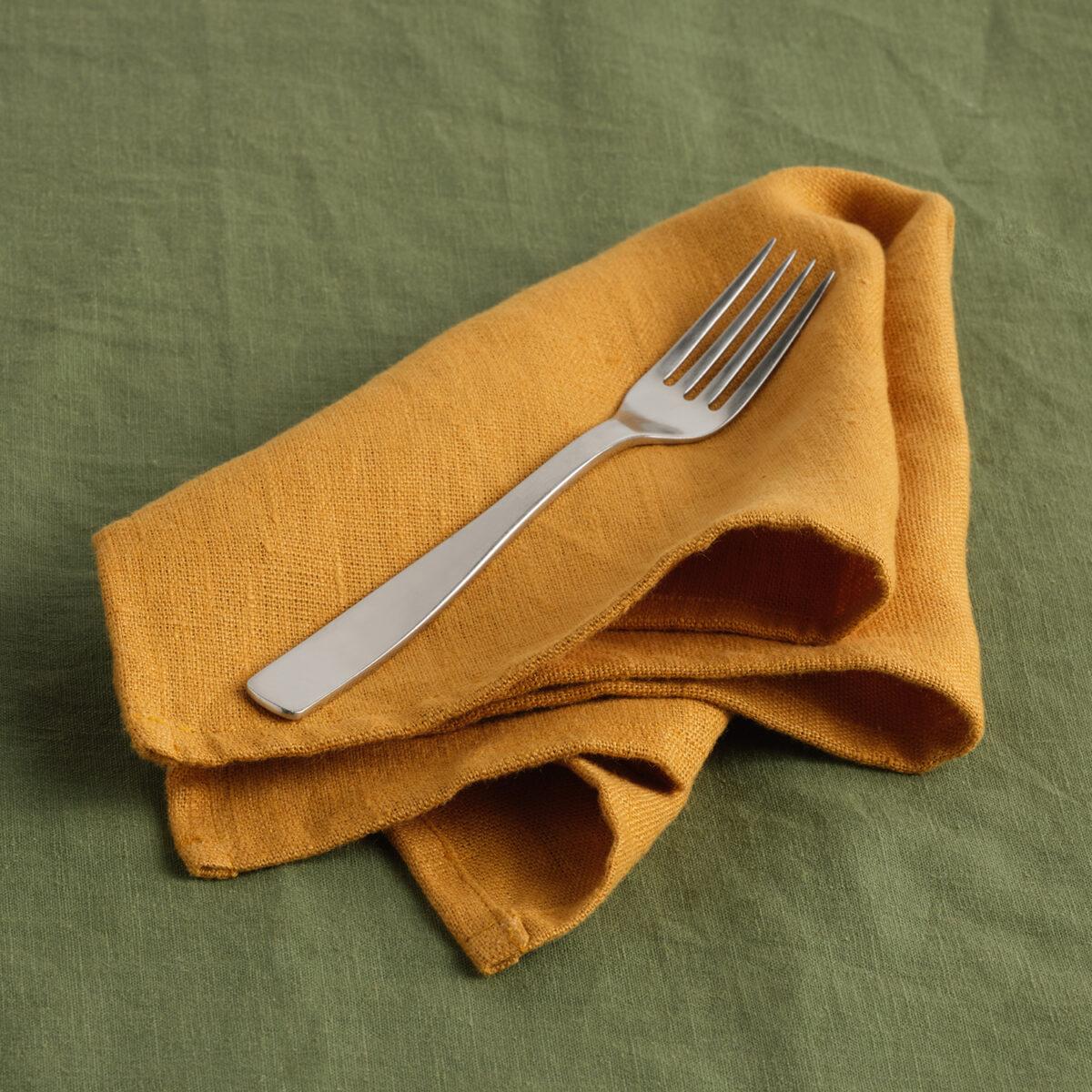 French Linen Mustard Napkin 002