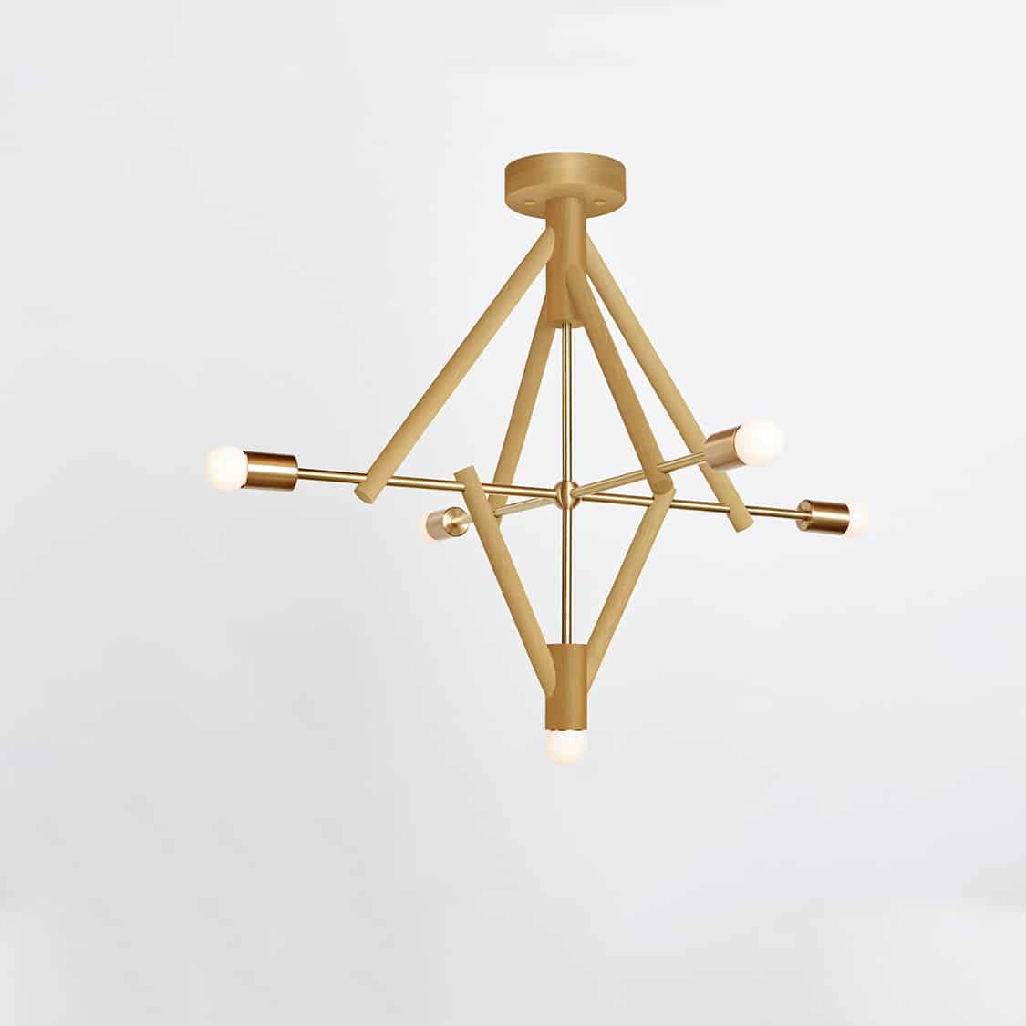 Lodge Chandelier Five_Painted_On_Yellow-Hewn Brass