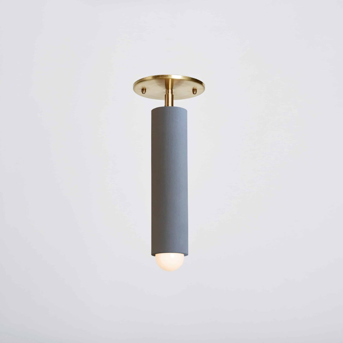 Lodge Flushmount_Painted_On_Gray-Hewn Brass
