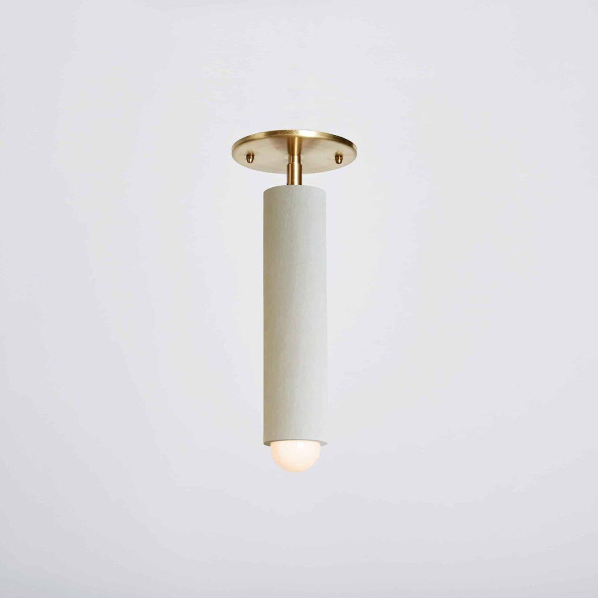 Lodge Flushmount_Painted_On_white-Hewn Brass
