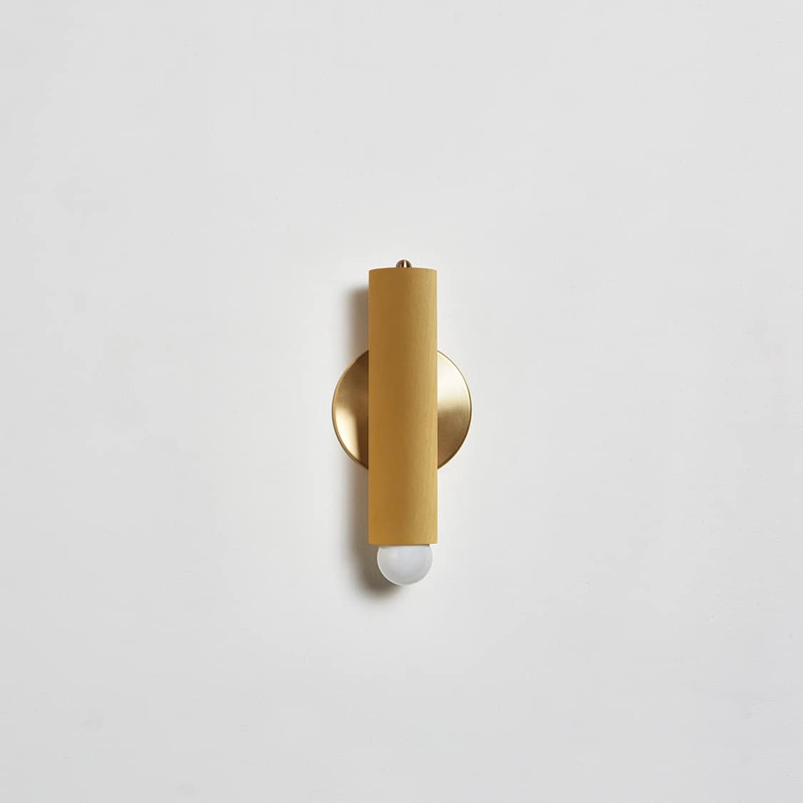 Lodge Sconce_Painted_Off_Straight_Yellow-Hewn Brass