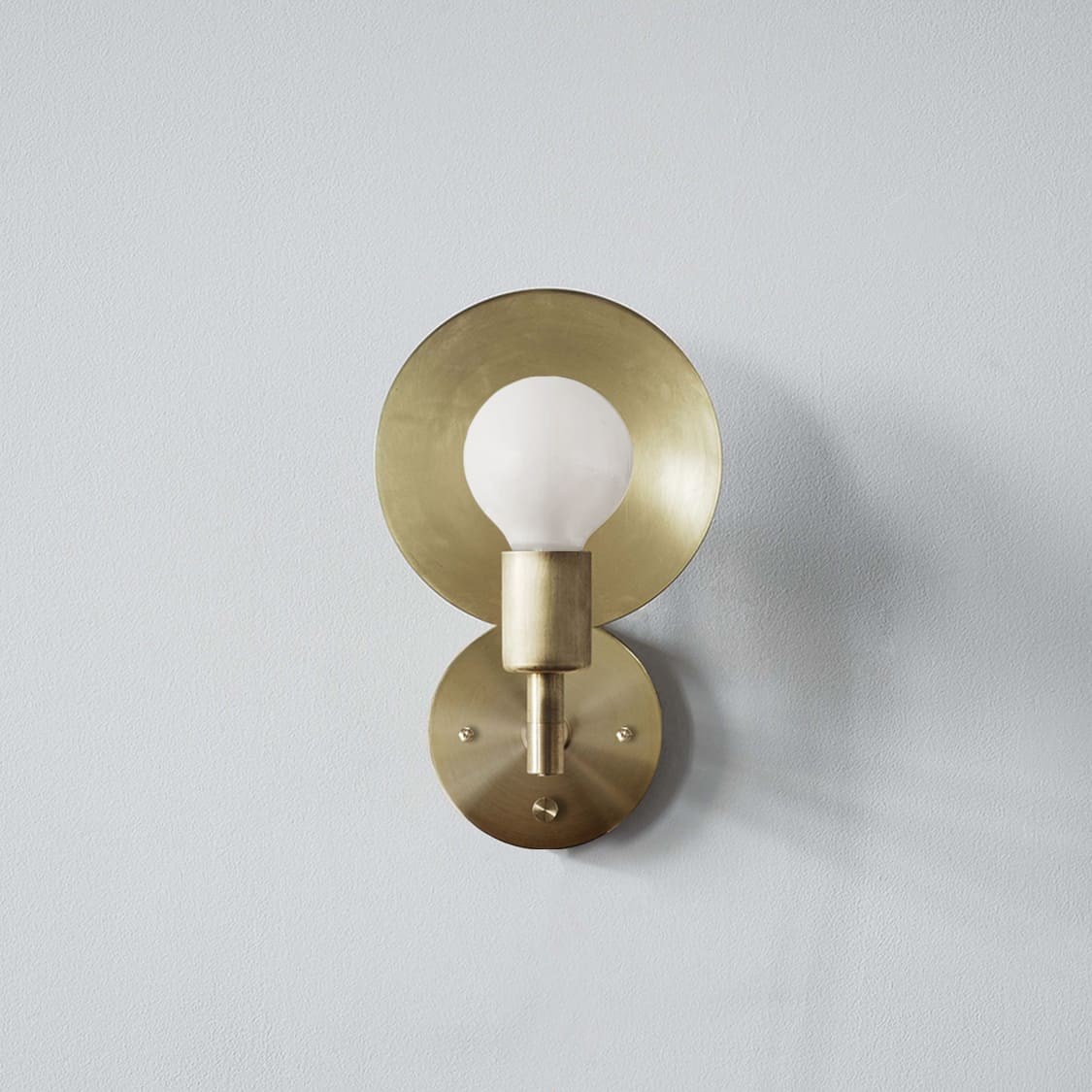 Orbit Sconce Hardwired_Front_Brass