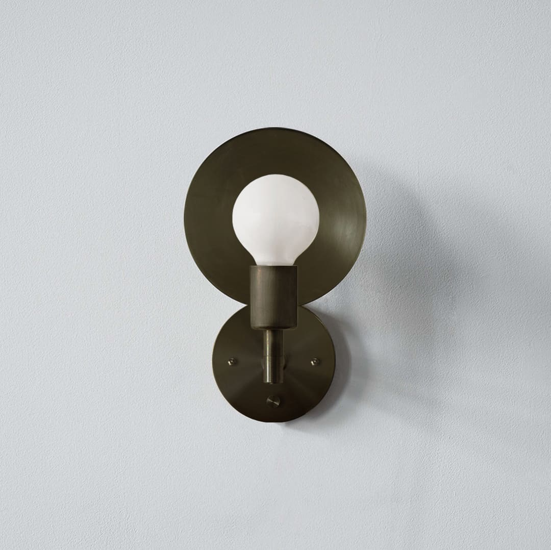 Orbit Sconce Hardwired_Front_Bronze