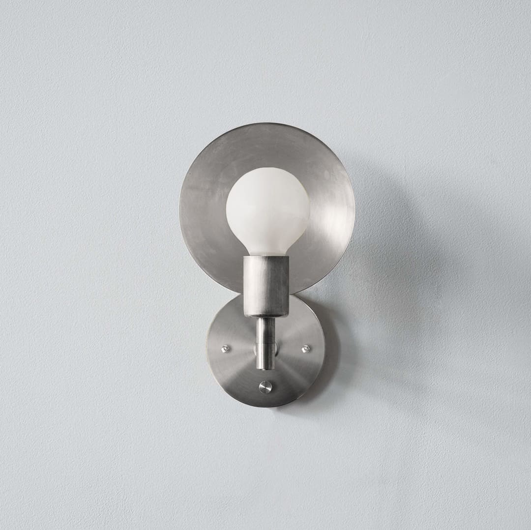 Orbit Sconce Hardwired_Front_Nickel