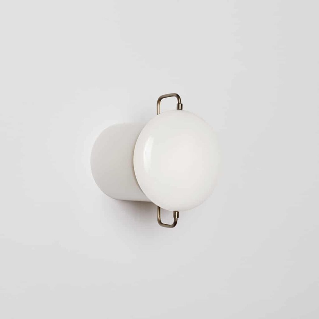 Park I White Enamel Wall Light Sconce