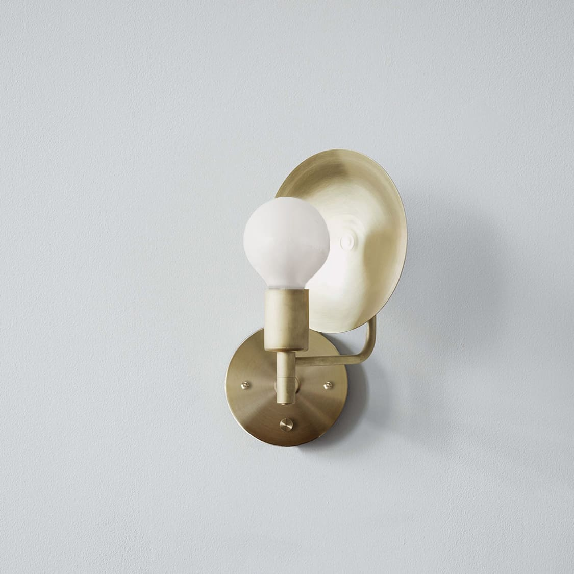 Sconce Hardwired_Angle_Brass