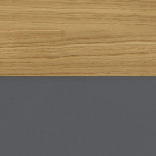 Solid Oak with Grey Lacquer