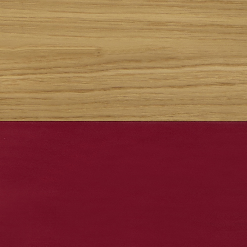 Solid Oak / Wellington Red