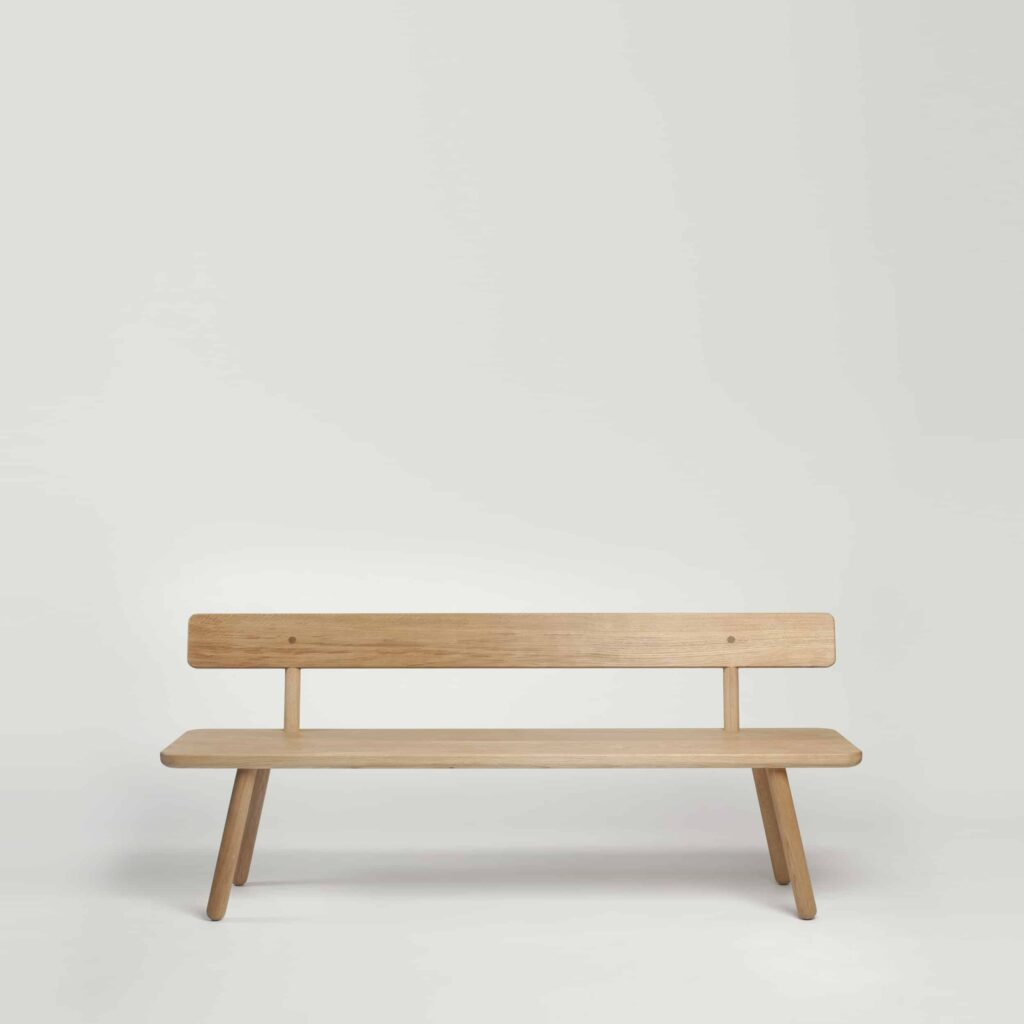 Another Country Oak Bench with Back