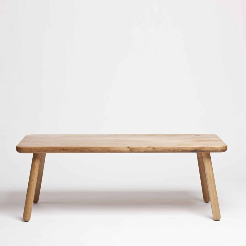 rectangular oak coffee table