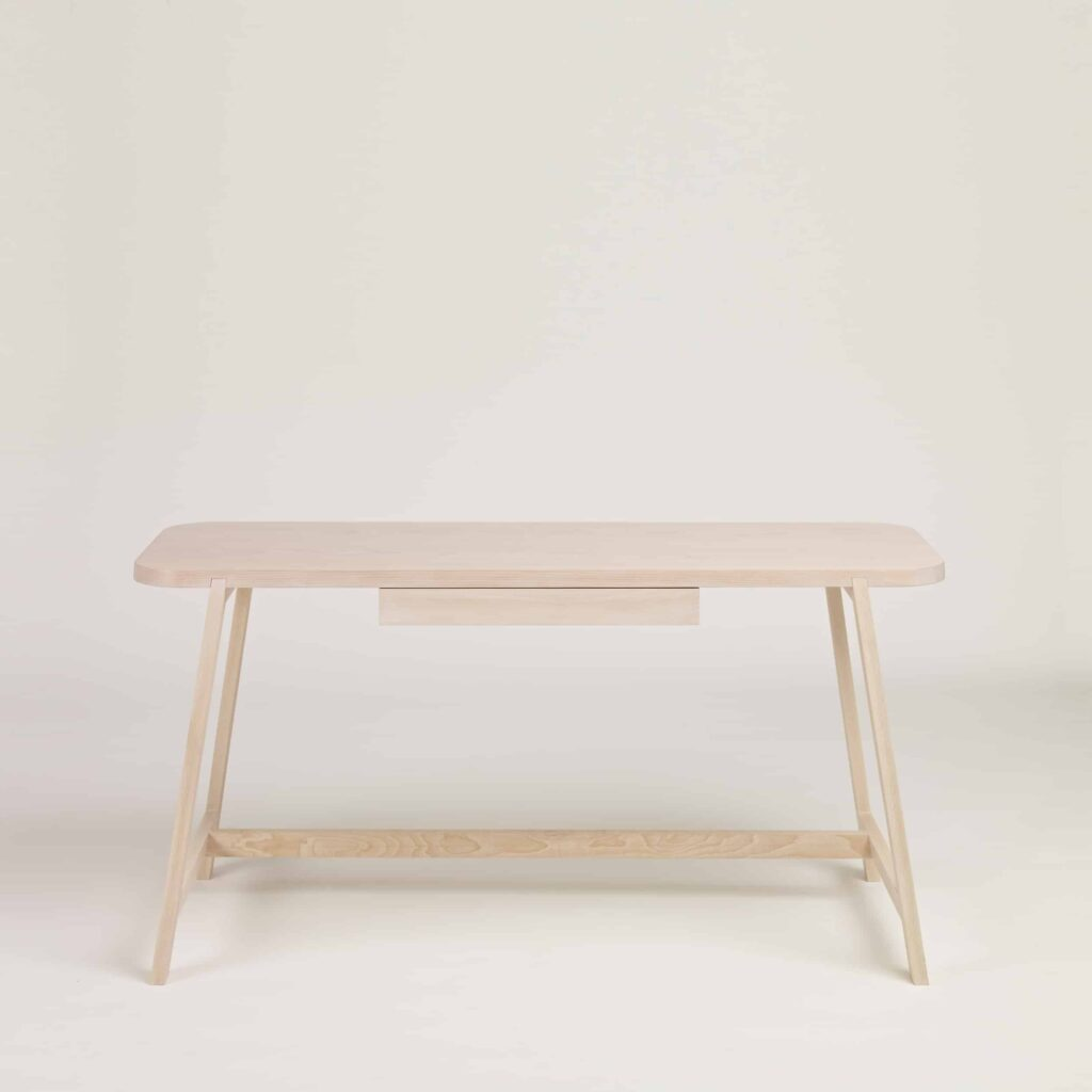 light solid beech desk