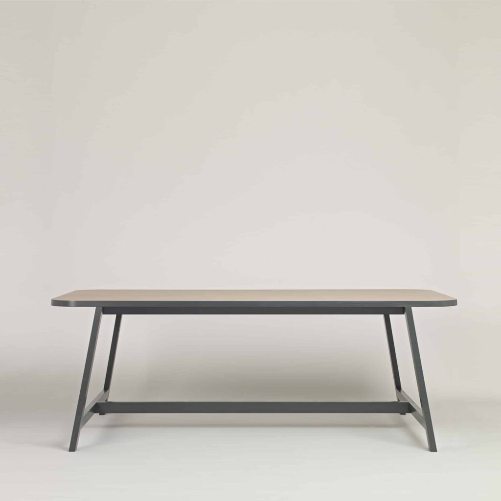 Light Wood and Grey Dining Table by Another Country