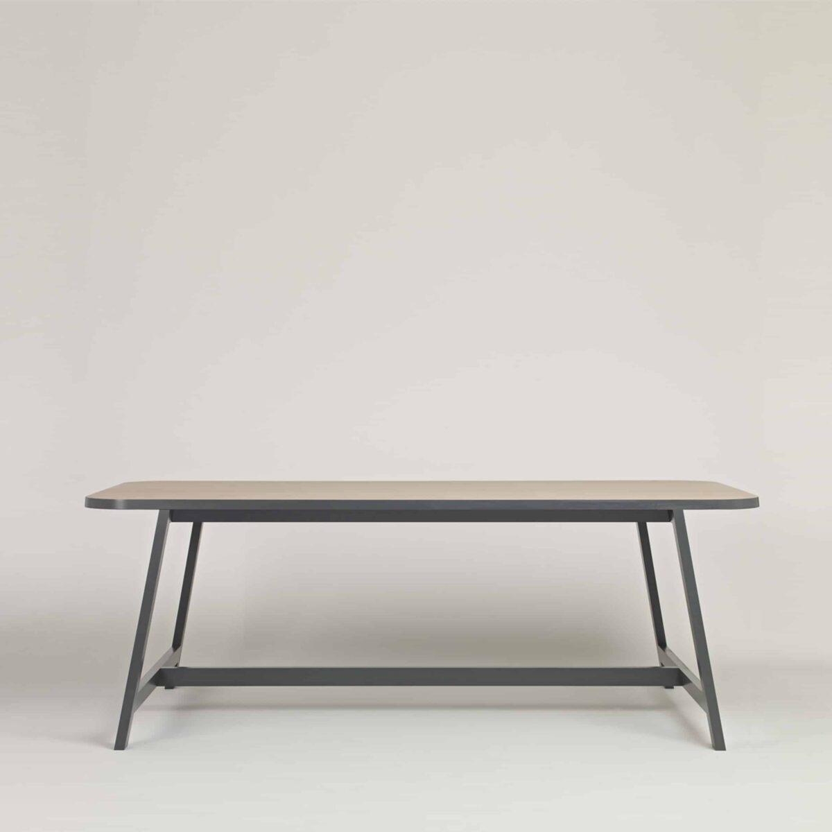 Table Three Beech Grey Profile