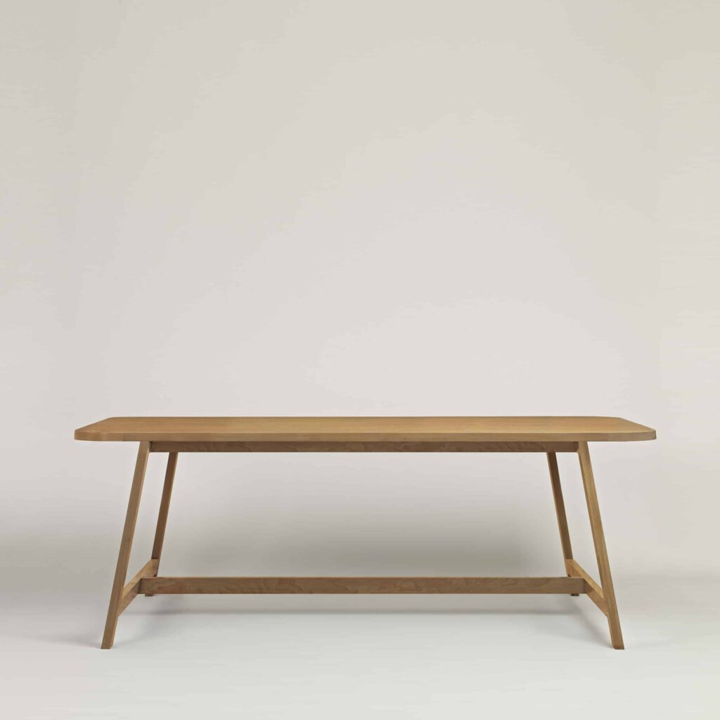 Contemporary Solid Oak Dining Table Three by Another Country