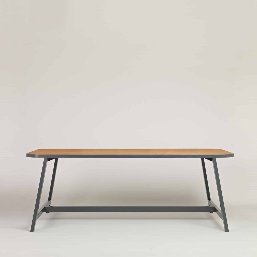 Oak Grey Dining Table Three by Another Country
