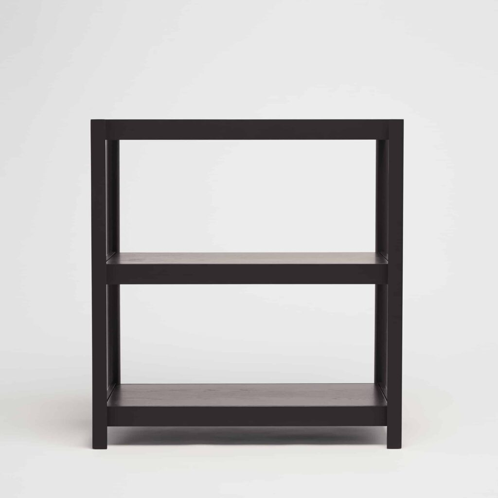 Fram black shelving unit by another country