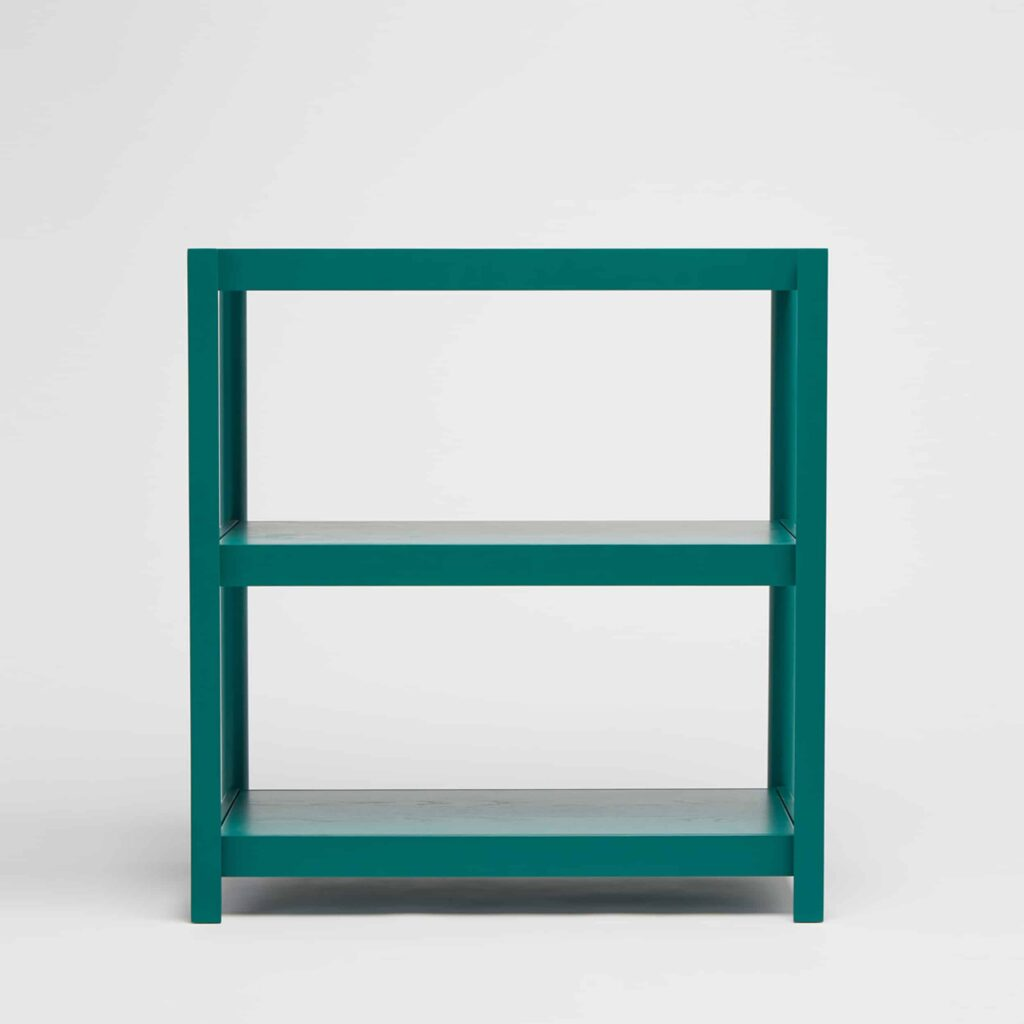 green shelving unit by Mathias Hahn for another country