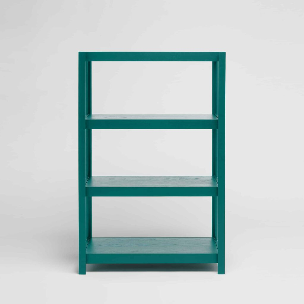 medium green shelving unit