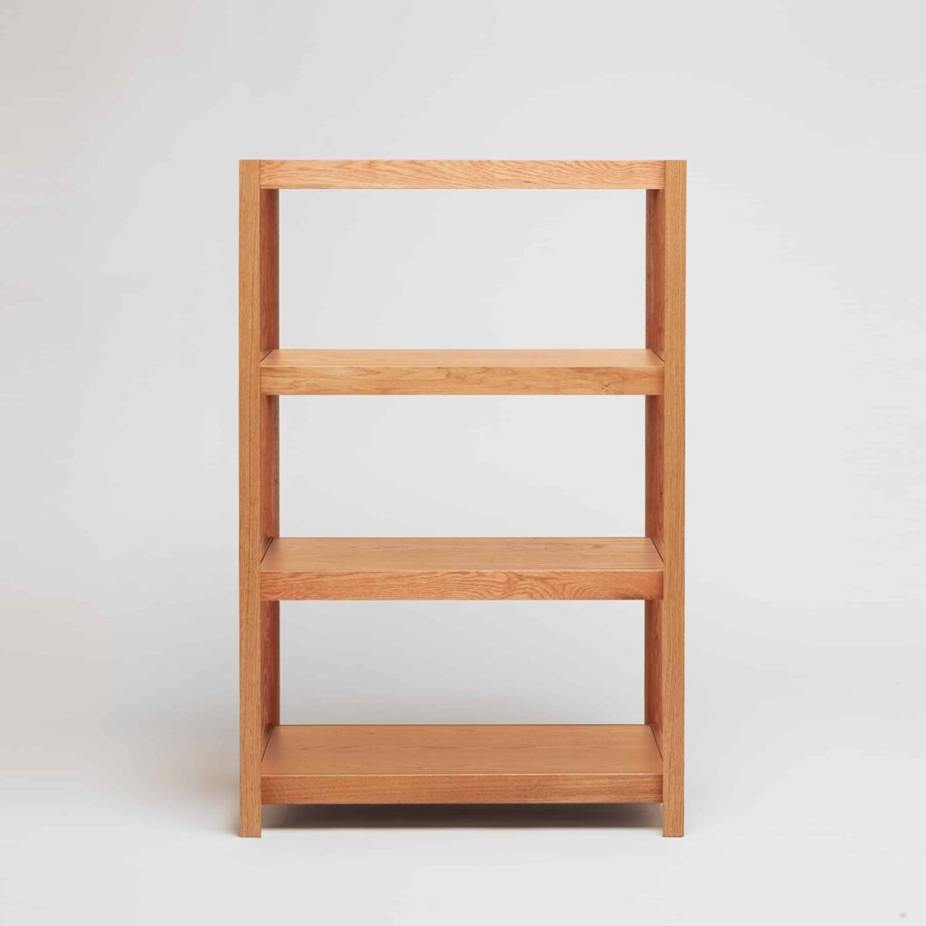 medium oak shelving unit by another country