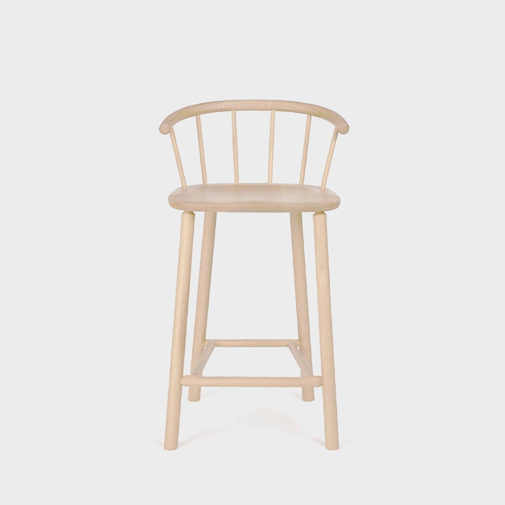white ash barstool with back by another country
