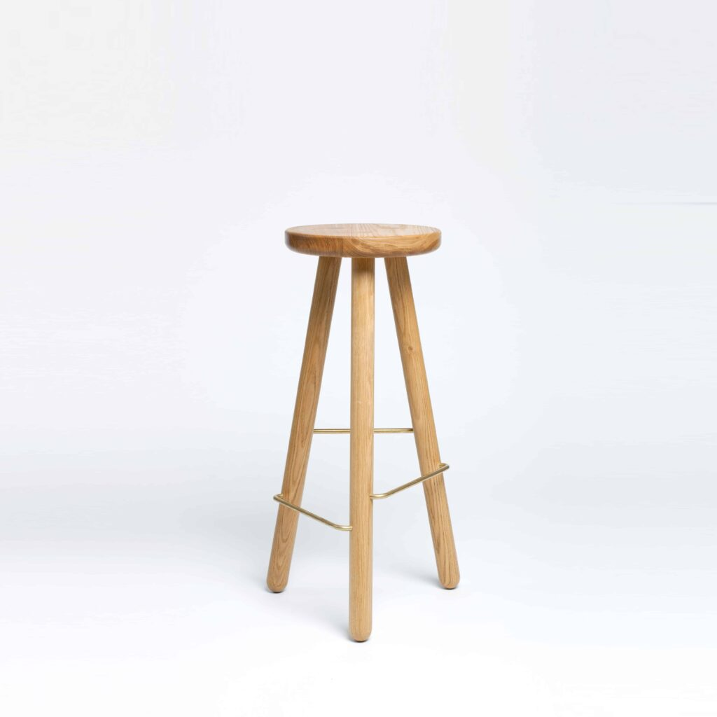 Bar stool one in oak