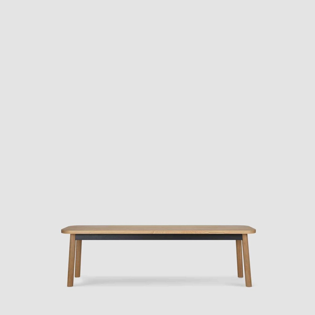 A semley bench large in oak
