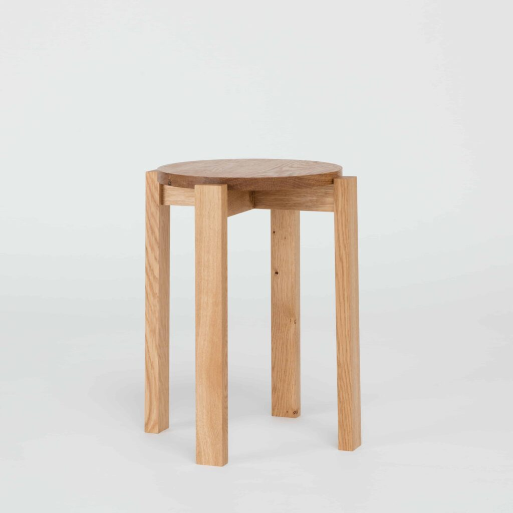 stackable oak stool by another country