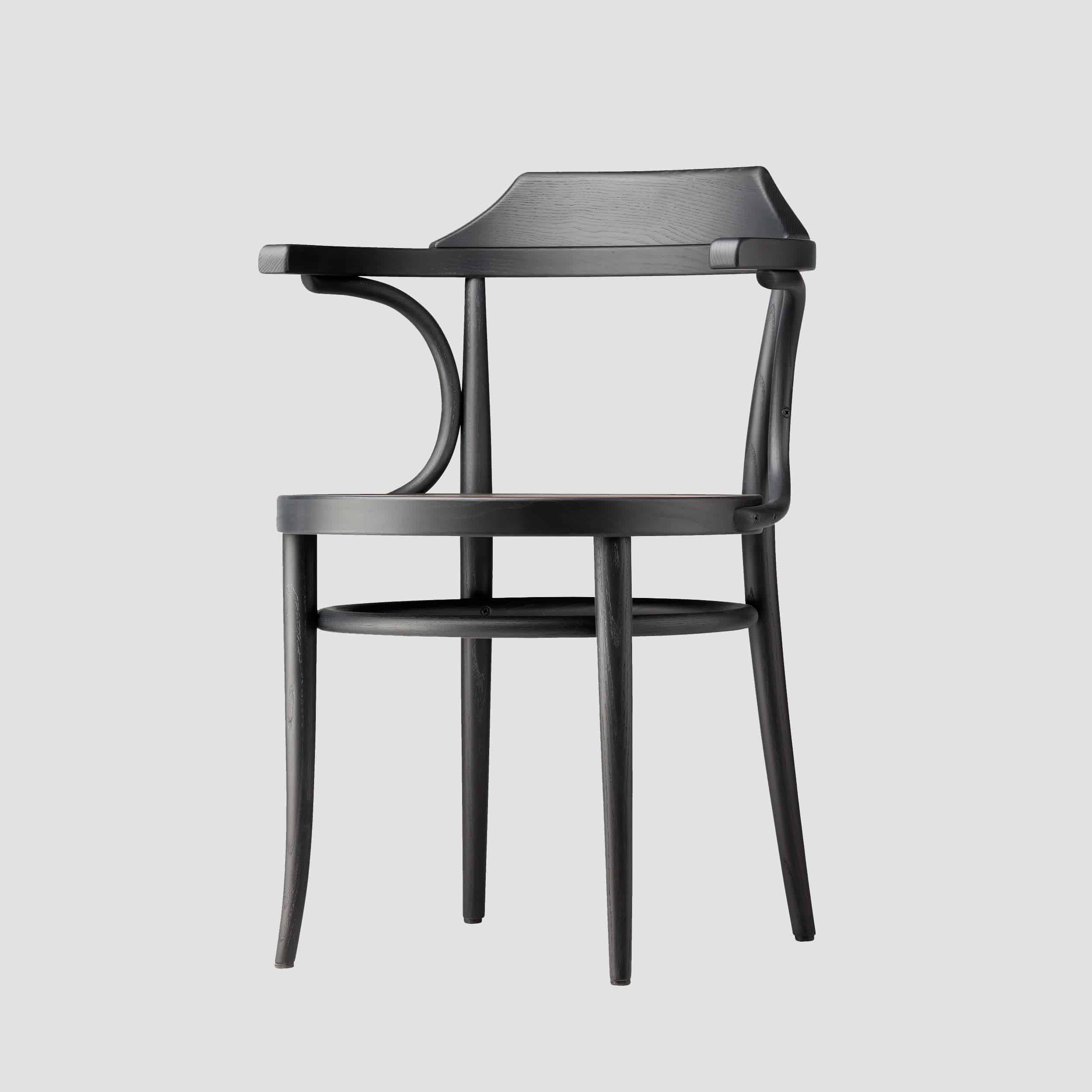 Thonet 233 Ash Black Chair Side 001
